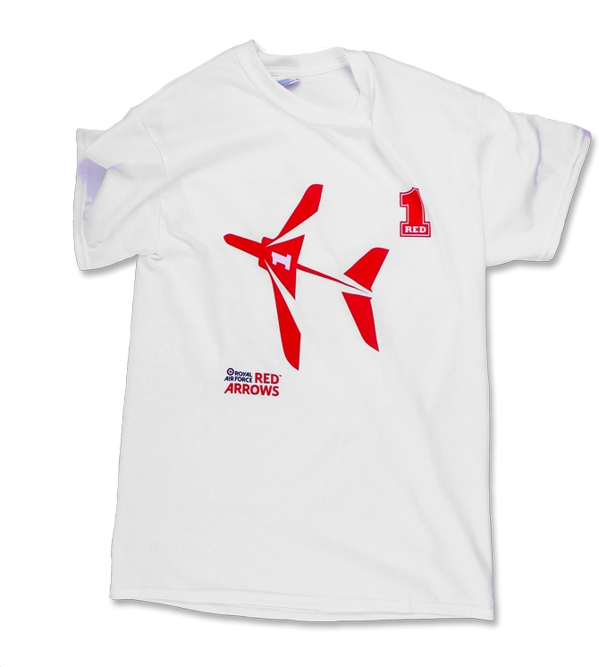 Official red arrows childrens red one t shirt for The red t shirt company