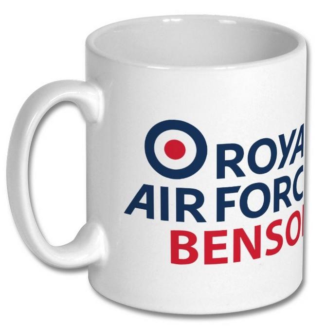 raf benson logo mug