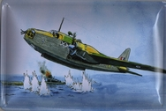 Water Bomber Drawing Wall Plaque - 30 x 20cm