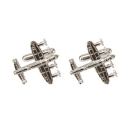 Lancaster Bomber Silver Plated Cufflinks