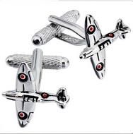 RAF Spitfire Silver Plated Cuff Links