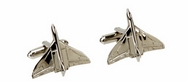 RAF Vulcan Bomber Silver Plated Cuff Links