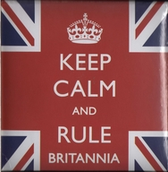 Keep Calm and Rule Britannia Note Book and Pencil