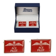 Official Royal Air Force Ace Pilot Cufflinks