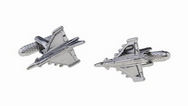 Silver Plated Typhoon Cufflinks