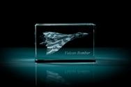 AVRO Vulcan Bomber 3D Laser Etched Crystal Cube - Medium