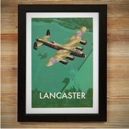 Lancaster Bomber Design Stainless Steel Hip Flask