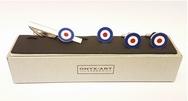 Official RAF Bi-Plane WW1 Whisky Glasses (2 Glasses)