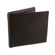 RAF Single Fold Brown Leather Wallet