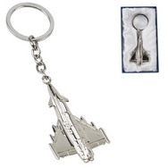 RAF Typhoon silver plated keyring
