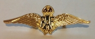 Official RAF Wings Sweetheart Brooch - Gold