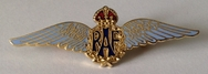Official RAF Wings Sweetheart Brooch - Blue