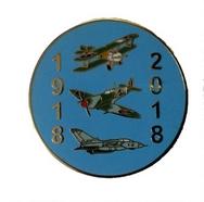 RAF 100 Centenary Plane Pin