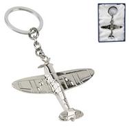 RAF Spitfire Silver Plated Keyring