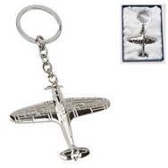 RAF Hurricane silver plated keyring