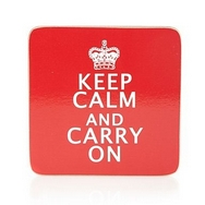 Keep Calm and Carry On Retro Drinks Coasters (Pack of 4)
