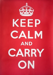 Keep Calm and Carry on Retro Wall Sign