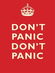 Dont Panic, Dont Panic Retro Metal Wall Sign