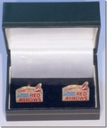 Limited Edition Red Arrows Gold Plated Cufflinks
