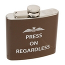 Press on Regardless Royal Air Force Hip Flask