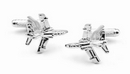 RAF Harrier Silver Plated Cuff Links