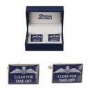 Clear For Take Off Royal Air Force Cufflinks