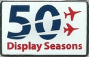 Official Red Arrows 50th Display Season Logo Pin