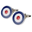 RAF Silver Plated Roundel Cufflinks