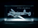 AVRO Shackleton 3D Laser Etched Crystal Cube - Medium