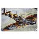 Spitfire - RAF Design Print on Hardboard