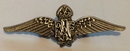 Official RAF Wings Sweetheart Brooch - Pewter