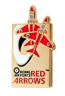 Limited Edition Royal Air Force Red Arrows Swoosh pin