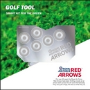 Red Arrows Golf Ball Marker Wallet Tool